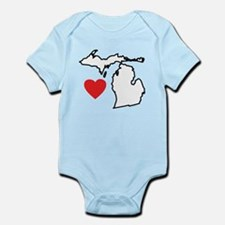 I Love Michigan Infant Bodysuit