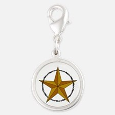 WESTERN STAR AND BARBED WIRE Charms