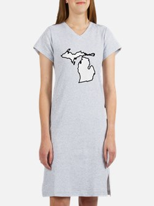 Michigan State Outline Women's Nightshirt