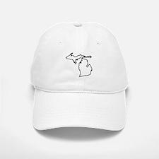 Michigan State Outline Baseball Baseball Cap