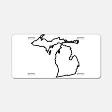 Michigan State Outline Aluminum License Plate