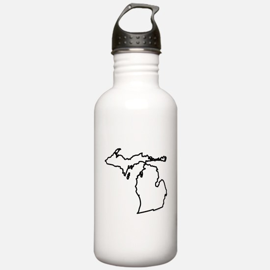 Michigan State Outline Water Bottle