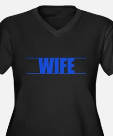 Blue Line Wife V-Neck Plus Size T-Shirt