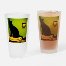 Toilet Cat Drinking Glass