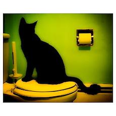 Toilet Cat Poster
