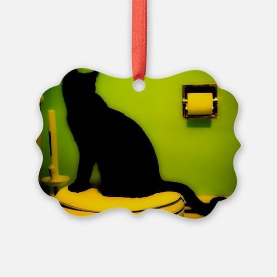 Toilet Cat Ornament