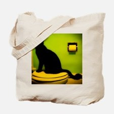 Toilet Cat Tote Bag