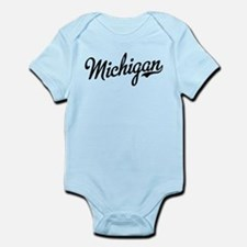 Michigan Script Black Infant Bodysuit