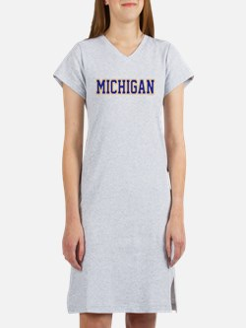 Michigan Jersey Blue Women's Nightshirt