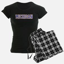 Michigan Jersey Blue Pajamas