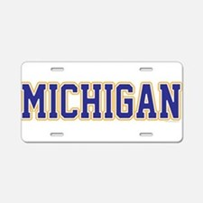 Michigan Jersey Blue Aluminum License Plate