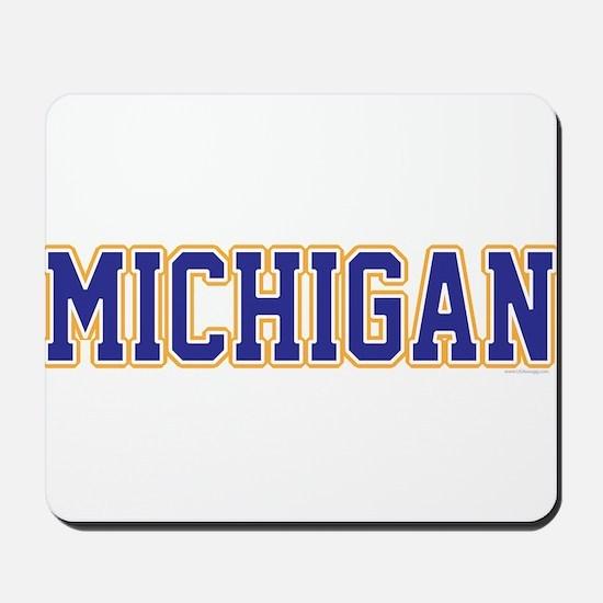 Michigan Jersey Blue Mousepad
