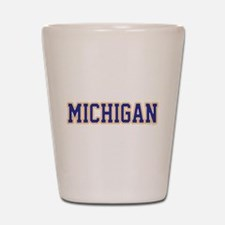 Michigan Jersey Blue Shot Glass