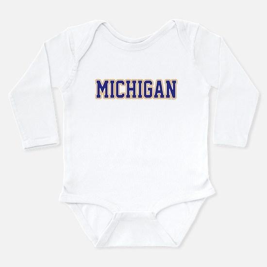 Michigan Jersey Blue Onesie Romper Suit