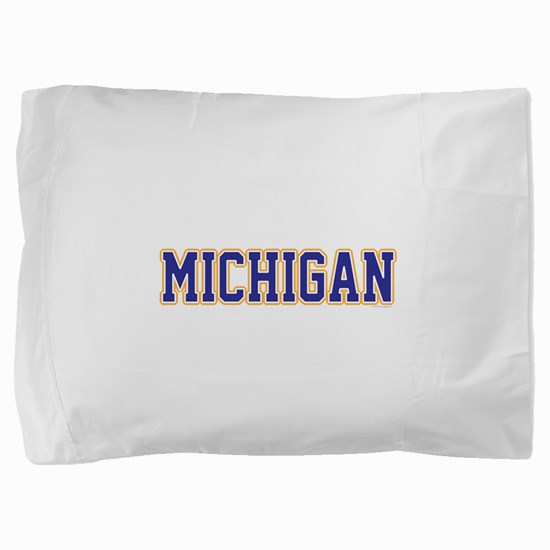 Michigan Jersey Blue Pillow Sham
