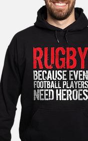Rugby Football Heroes Hoodie (dark)