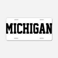 Michigan Jersey Black Aluminum License Plate