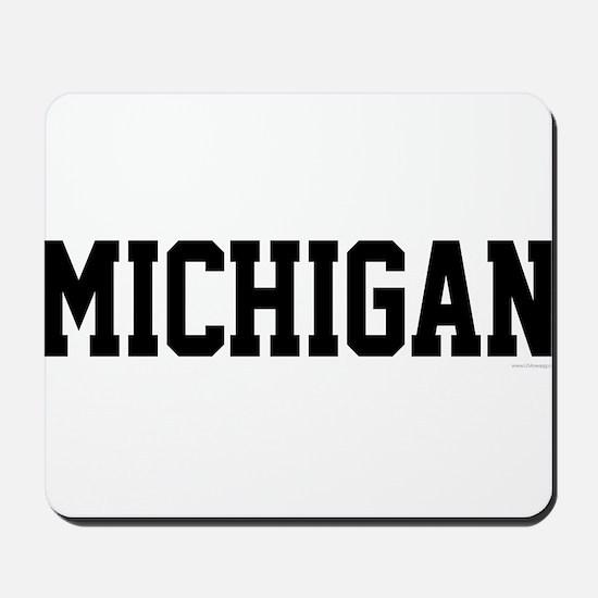 Michigan Jersey Black Mousepad