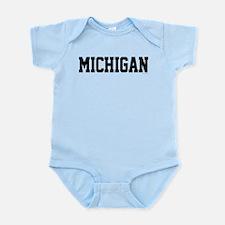 Michigan Jersey Black Infant Bodysuit