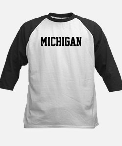 Michigan Jersey Black Tee