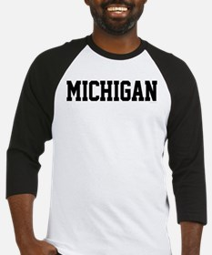 Michigan Jersey Black Baseball Jersey