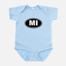 Michigan MI Euro Oval Infant Bodysuit