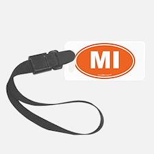Michigan MI Euro Oval Luggage Tag