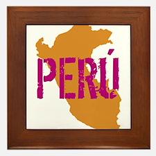 COLORFUL PERU - Framed Tile