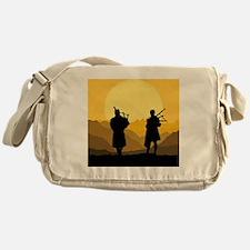 Scottish bagpipe sunset Messenger Bag
