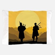 Scottish bagpipe sunset Pillow Case