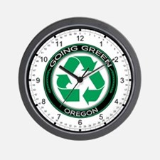 Going Green Oregon (Recycle) Wall Clock