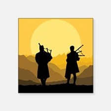 Scottish bagpipe sunset Sticker