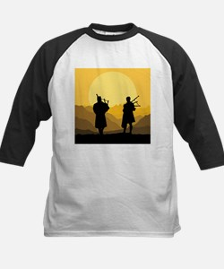 Scottish bagpipe sunset Baseball Jersey