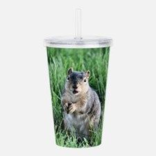 Funny Squirrels Acrylic Double-wall Tumbler