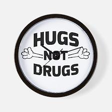 Hugs! Not Drugs Wall Clock