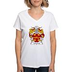 Ginoves Family Crest Women's V-Neck T-Shirt