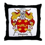 Ginoves Family Crest Throw Pillow