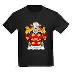Ginoves Family Crest Kids Dark T-Shirt