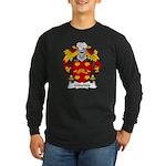 Ginoves Family Crest Long Sleeve Dark T-Shirt