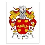 Ginoves Family Crest Small Poster