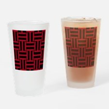 Red and Black T Weave Drinking Glass