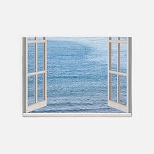 Ocean Scene Window 5'x7'Area Rug