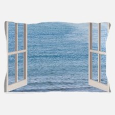 Ocean Scene Window Pillow Case