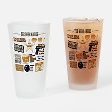 The Big Lebowski Icons Drinking Glass