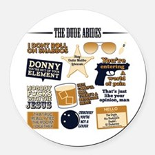 The Big Lebowski Icons Round Car Magnet