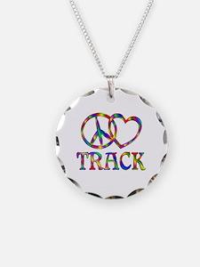 Peace Love Track Necklace