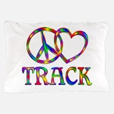 Peace Love Track Pillow Case