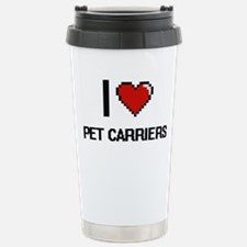 I Love Pet Carriers Dig Stainless Steel Travel Mug