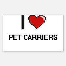 I Love Pet Carriers Digital Design Decal