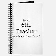 6th. Grade Teacher Journal